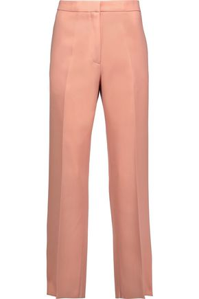 ROCHAS Cropped wool-canvas straight-leg pants