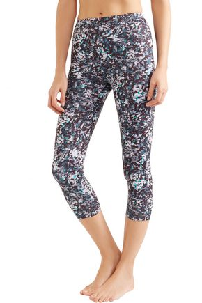 LIVE THE PROCESS Cropped printed stretch-Supplex leggings