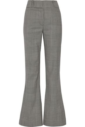 GARETH PUGH Prince of Wales checked wool flared pants