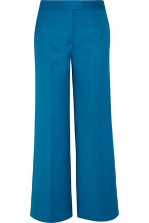 TOD'S Cropped wool-twill wide-leg pants