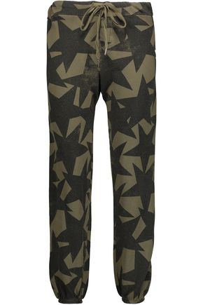 CURRENT/ELLIOTT The Varsity printed cotton track pants