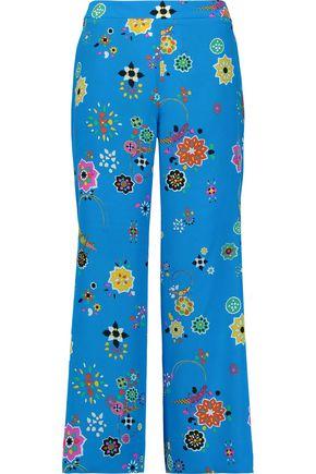 EMILIO PUCCI Printed silk-crepe wide-leg pants