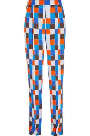 EMILIO PUCCI Printed crepe straight-leg pants