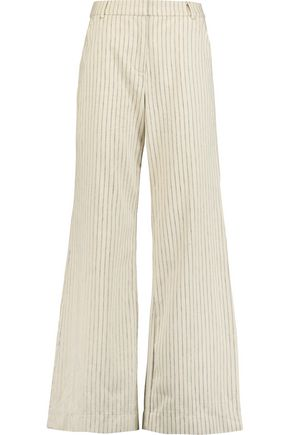ZIMMERMANN Pinstriped twill wide-leg pants