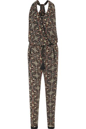 TALITHA Tasseled printed silk-georgette jumpsuit