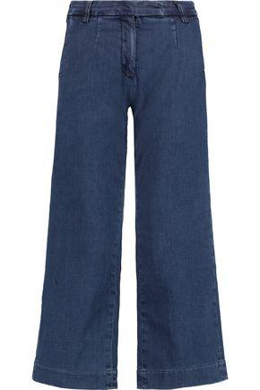 CURRENT/ELLIOTT The Cropped denim culottes
