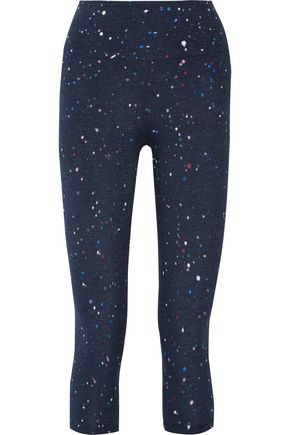 KAIN Abby cropped printed stretch-jersey leggings