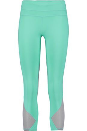 APL® ATHLETIC PROPULSION LABS Cropped mesh-paneled stretch-jersey leggings