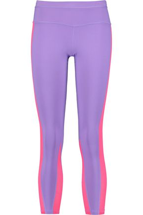APL® ATHLETIC PROPULSION LABS Mesh-paneled stretch-jersey leggings