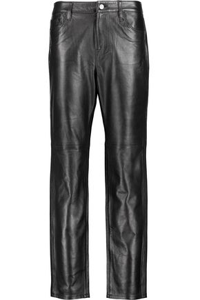 J BRAND Casey leather straight-leg pants