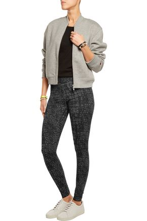 YUMMIE by HEATHER THOMSON® Hannah wrap-effect stretch cotton-blend leggings