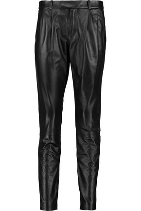 REDValentino Leather skinny pants