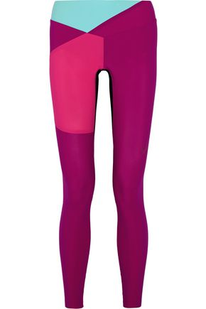LUCAS HUGH Color-block stretch-jersey leggings