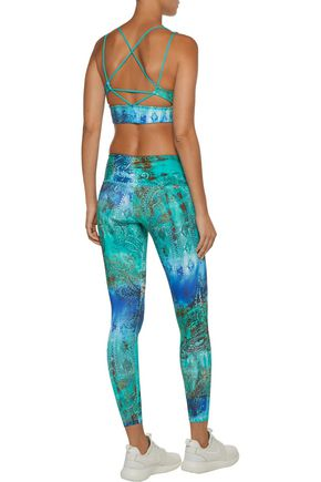 BODYISM I Am Bright printed stretch leggings