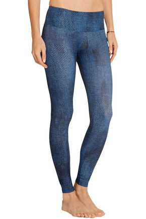 BODYISM I Am Comfortable printed stretch-jersey leggings