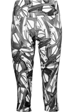 BODYISM I Am Fast cropped printed stretch leggings
