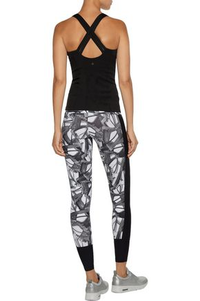 BODYISM I Am Fast printed stretch leggings