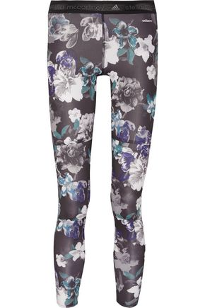 ADIDAS by STELLA McCARTNEY Floral-print stretch-jersey leggings