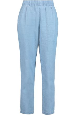 EQUIPMENT Hadley cotton-chambray straight-leg pants