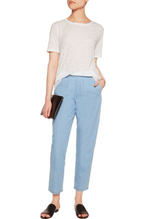 EQUIPMENT Hadley cotton-chambray tapered pants