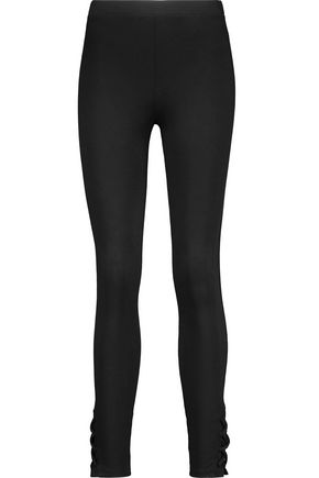SPLENDID Lace-up stretch modal and Supima cotton-blend leggings
