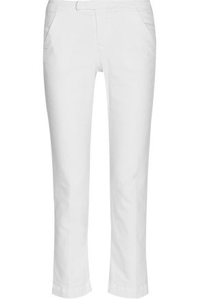 FRAME Le Cropped stretch cotton-blend twill pants