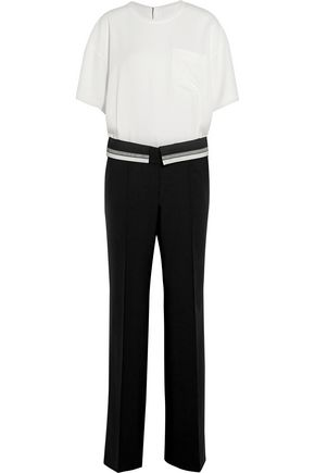 MAISON MARGIELA Crepe and wool-blend twill jumpsuit