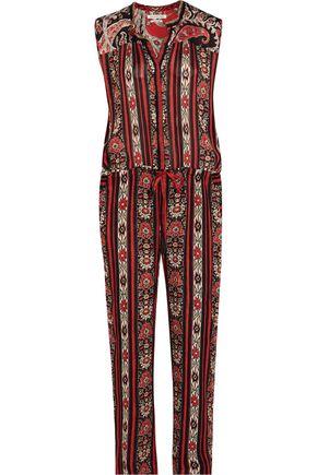 ISABEL MARANT ÉTOILE Tad printed crepe de chine jumpsuit