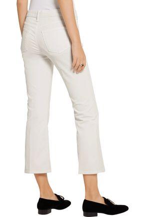 J BRAND Selena cropped corduroy mid-rise bootcut pants