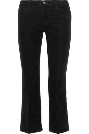 J BRAND Selena cropped corduroy bootcut pants