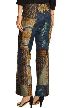 ETRO Patchwork jacquard flared pants