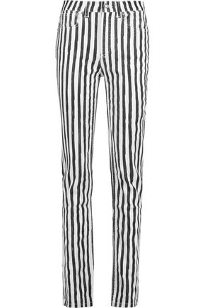 MARC BY MARC JACOBS Drainpipe high-rise striped slim-leg jeans