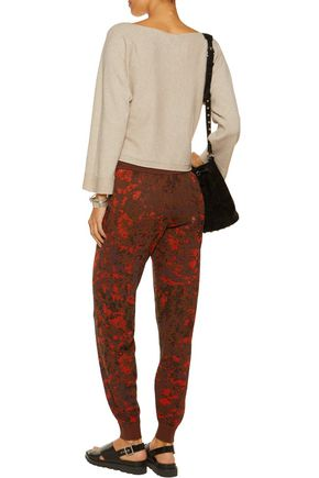 M MISSONI Jacquard-knit tapered pants