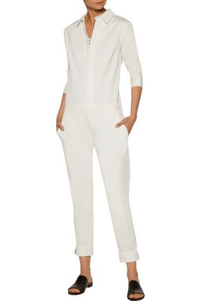 LA LIGNE Cotton-twill jumpsuit