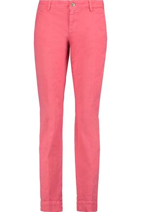7 FOR ALL MANKIND Roxanne cotton-blend slim-leg pants