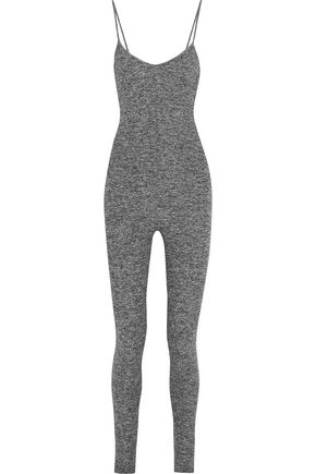 LIVE THE PROCESS Brushed stretch-jersey bodysuit