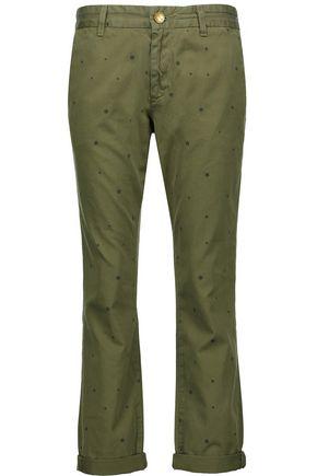 CURRENT/ELLIOTT The Buddy printed cotton-twill straight-leg pants