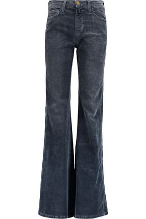 CURRENT/ELLIOTT Flared cotton-blend corduroy pants