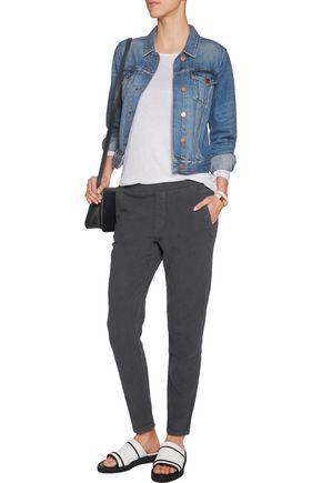 CURRENT/ELLIOTT The Bi Coastal cotton-crepe straight-leg pants