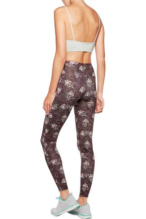 LIVE THE PROCESS Printed stretch-jersey leggings