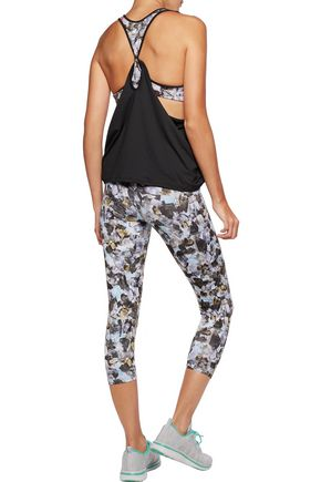 LIVE THE PROCESS Cropped printed stretch-jersey leggings