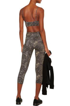 LIVE THE PROCESS Cropped leopard-print stretch leggings