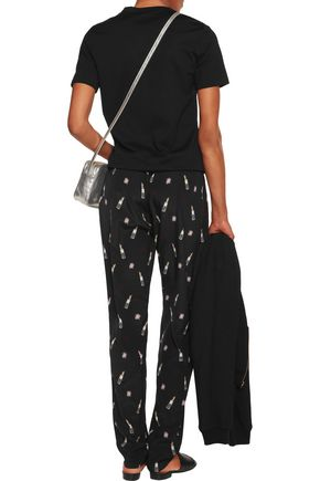 MARKUS LUPFER Power Room printed silk-crepe track pants