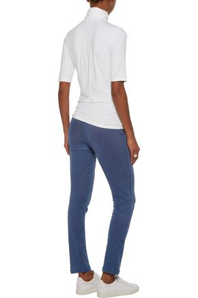 MAJESTIC Linen track pants