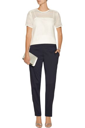 THEORY Termin linen-blend straight-leg pants