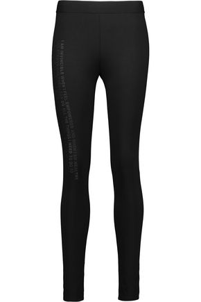 NORMA KAMALI Empower appliquéd stretch-jersey leggings