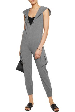 NORMA KAMALI Cotton-blend jersey hooded jumpsuit