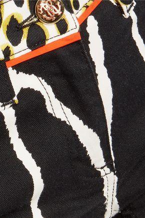 ROBERTO CAVALLI Mid-rise printed slim-leg jeans