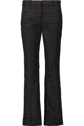 ROBERTO CAVALLI Studded jacquard straight-leg pants