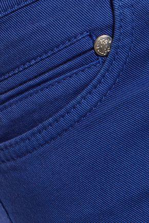 ROBERTO CAVALLI Mid-rise cotton-blend skinny-leg pants